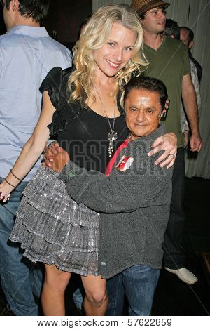 Erin Raftery and Deep Roy  at the World Cup Showdown Fundraiser, El Guapo Cantina, Los Angeles, CA.  11-06-09