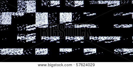 Tv Screen With Static Noise, By Bad Signal Reception