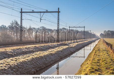 Cold Morning Railroad