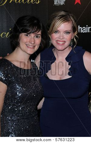 Sandra Fluke, Erin M. Fuller at the 2012 Gracie Awards Gala, Beverly Hilton Hotel, Beverly Hills, CA 05-22-12