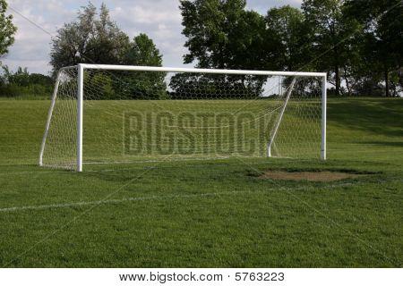 Empty Soccer Net