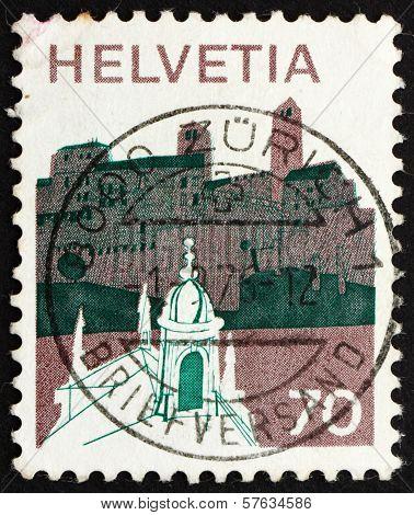 Postage Stamp Switzerland 1973 Village In Sopraceneri