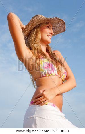 Bikini Woman With Hat