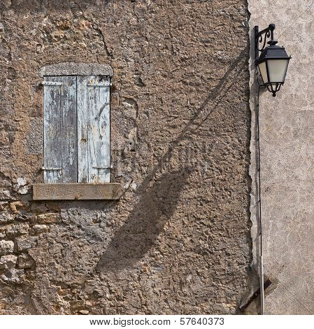 Facade Of An Old French House