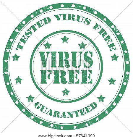 Virus Free-stamp