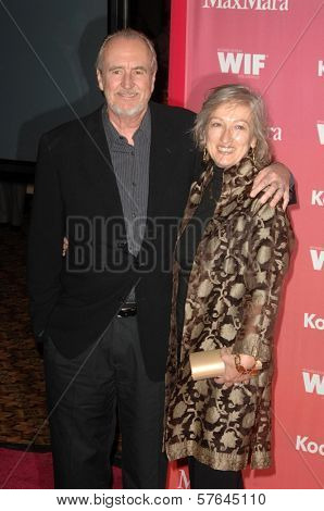 Wes Craven and Iya Labunka  at the Women In Film 2009 Crystal And Lucy Awards. Hyatt Regency Century Plaza, Century City, CA. 06-12-09
