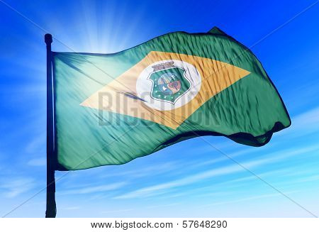 Ceara (Brazil) flag waving on the wind