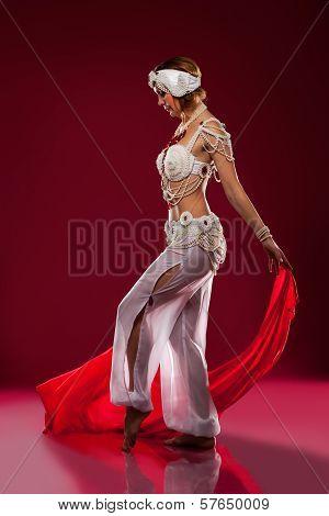 Beautiful oriental dancer