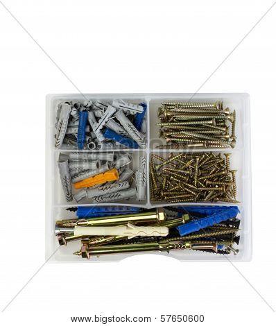 screws in the tool box