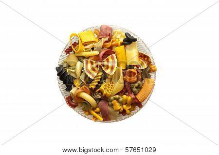Colourful pasta mix