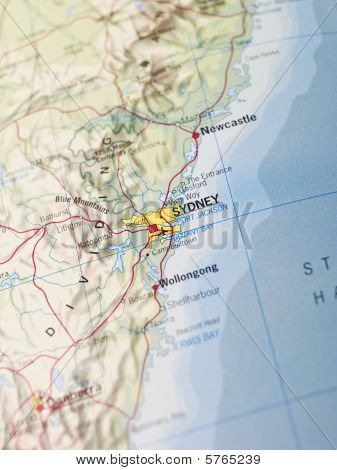 Map of Sidney