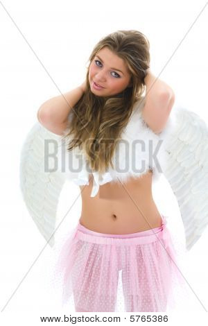 Beautiful Woman With Wings