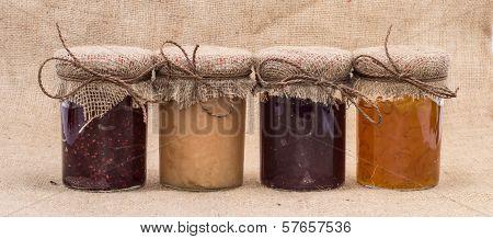 Fresh Made Jam In Jars
