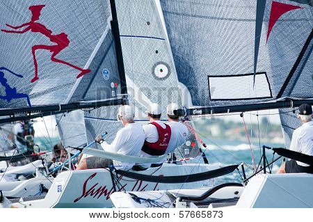 Samba Pa Ti threads the needles at Melges Worlds