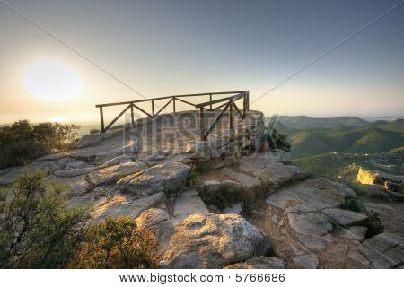 Lookout in mountain
