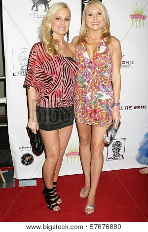 Katie Lohmann and Alana Curry  at the West Coast Premiere of 'Space Girls in Beverly Hills'. Regency Fairfax Cinema, Los Angeles, CA. 07-31-09