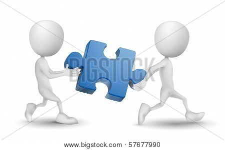 Two People Carried A Puzzle