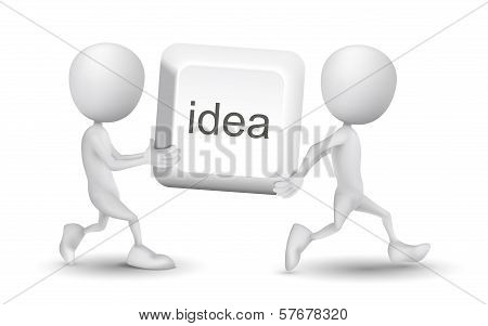 Two People Carried An Idea Button