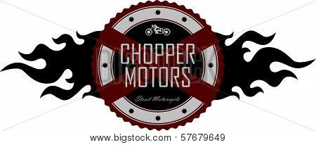 motorcycle label art