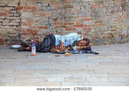 Homeless Sleeping In The Street