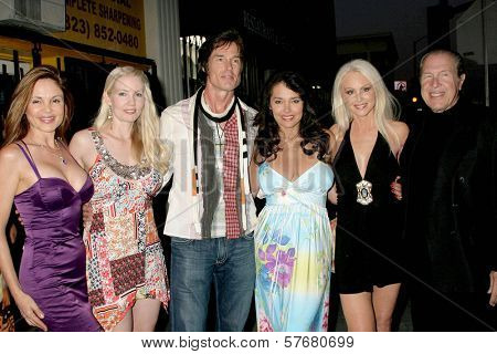 L-R Brittan Taylor, Allie Moss, Ronn Moss, Devin DeVasquez, Donna Spangler and Richard Benveniste at the Los Angeles Screening of 'Social Lights'. Regency Fairfax Cinemas, Los Angeles, CA. 08-05-09