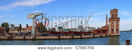 Shipyard, Arsenale In Venice