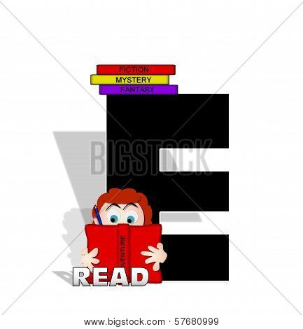 Alphabet Absorbed In Reading E