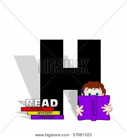 Alphabet Absorbed In Reading H
