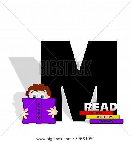 Alphabet Absorbed In Reading M