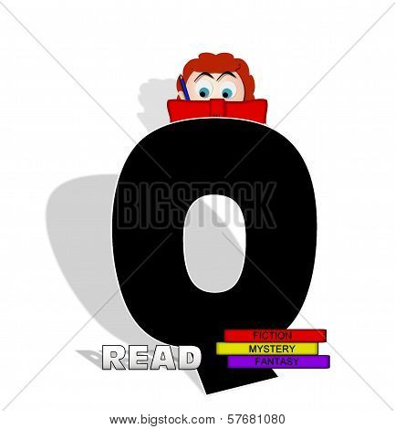 Alphabet Absorbed In Reading Q