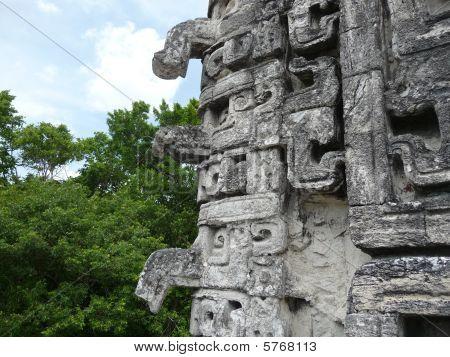 Maya ornaments at Chicanna