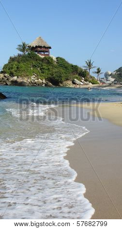 Natural paradise in caribbean blue sea