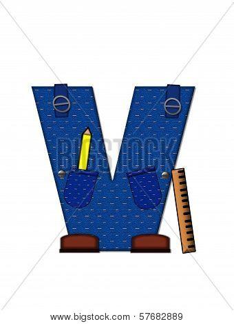 Alphabet Carpenter Tools V