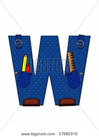 Alphabet Carpenter Tools W