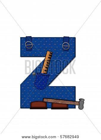 Alphabet Carpenter Tools Z