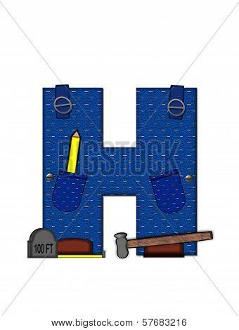 Alphabet Carpenter Tools H