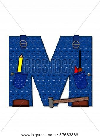 Alphabet Carpenter Tools M