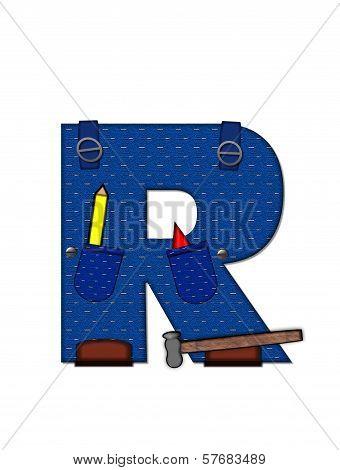 Alphabet Carpenter Tools R