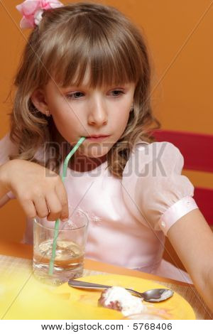 Girl Drinks Water