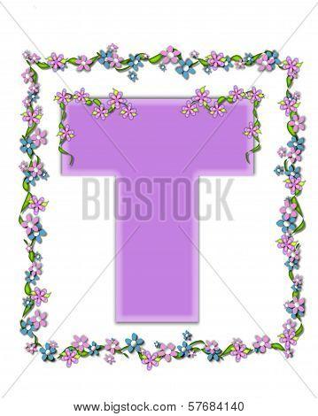 Alphabet Daisy Fair Lilac T