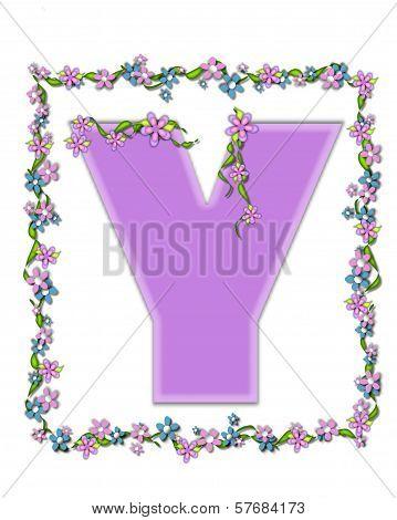 Alphabet Daisy Fair Lilac Y