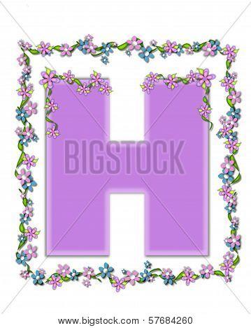 Alphabet Daisy Fair Lilac H