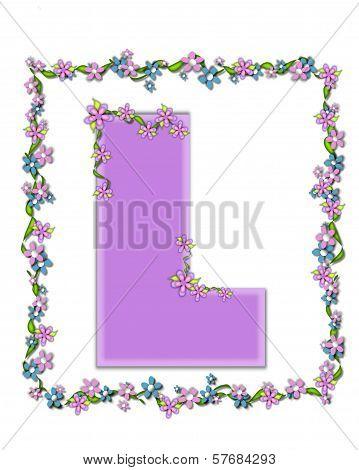 Alphabet Daisy Fair Lilac L