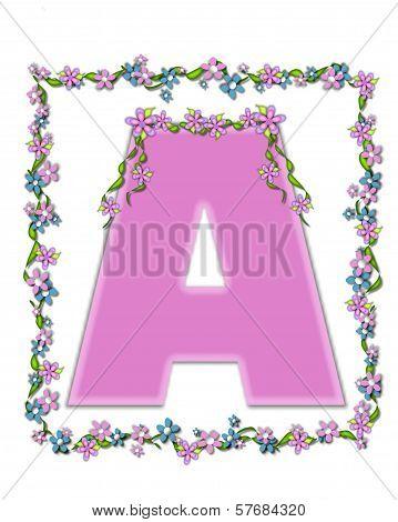 Alphabet Daisy Fair Pink A