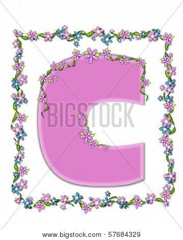 Alphabet Daisy Fair Pink C