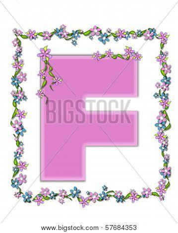 Alphabet Daisy Fair Pink F