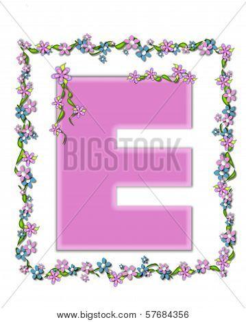 Alphabet Daisy Fair Pink E