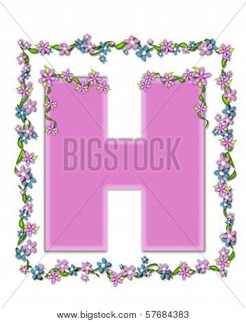 Alphabet Daisy Fair Pink H