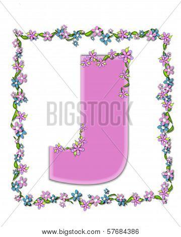 Alphabet Daisy Fair Pink J