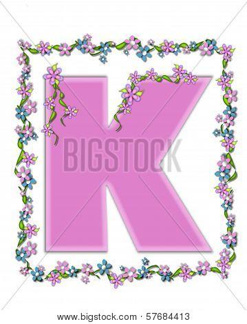 Alphabet Daisy Fair Pink K